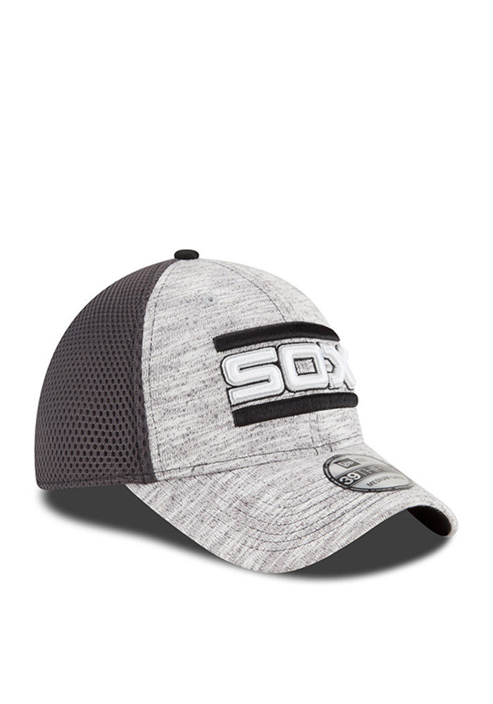 New Era Chicago White Sox Mens Grey 2016 Clubhouse Flex Hat - Image 2