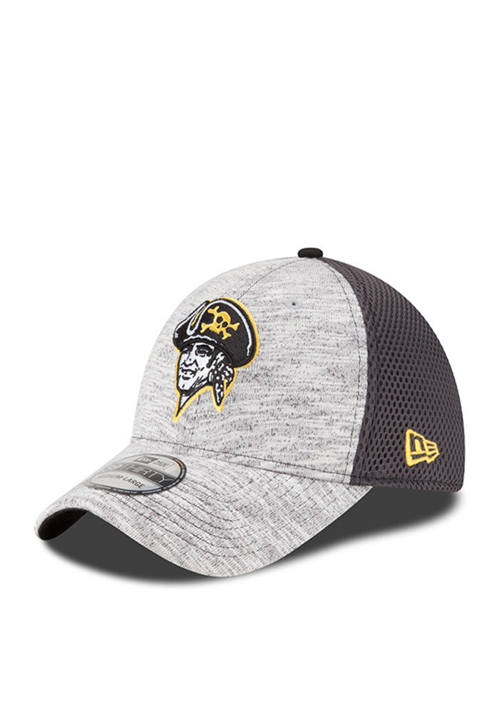 New Era Pittsburgh Pirates Mens Grey 2016 Clubhouse Flex Hat - Image 1