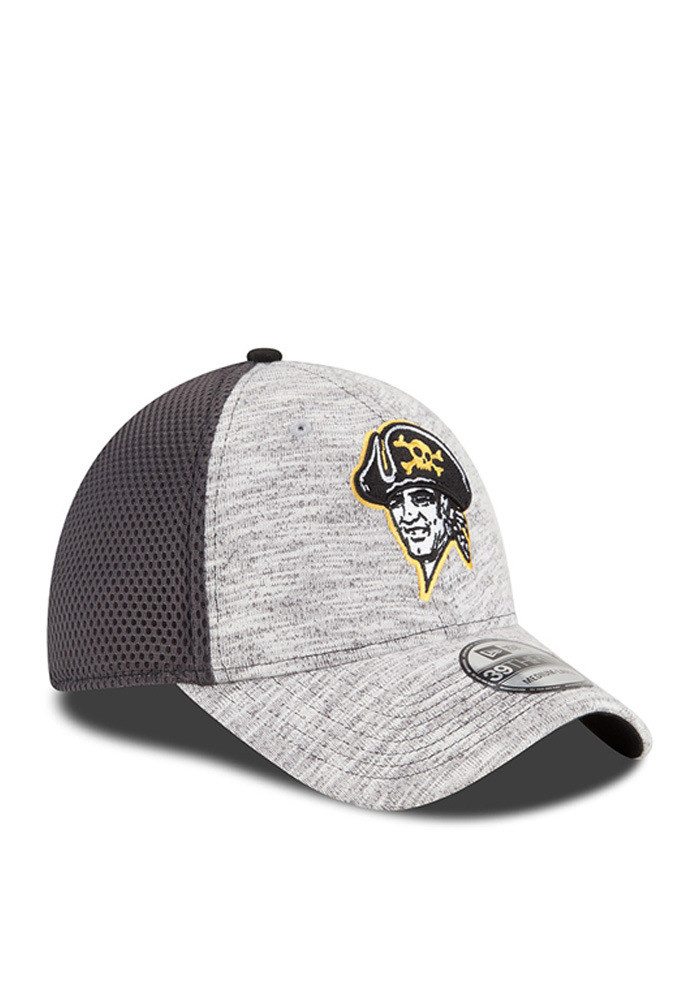 New Era Pittsburgh Pirates Mens Grey 2016 Clubhouse Flex Hat - Image 2