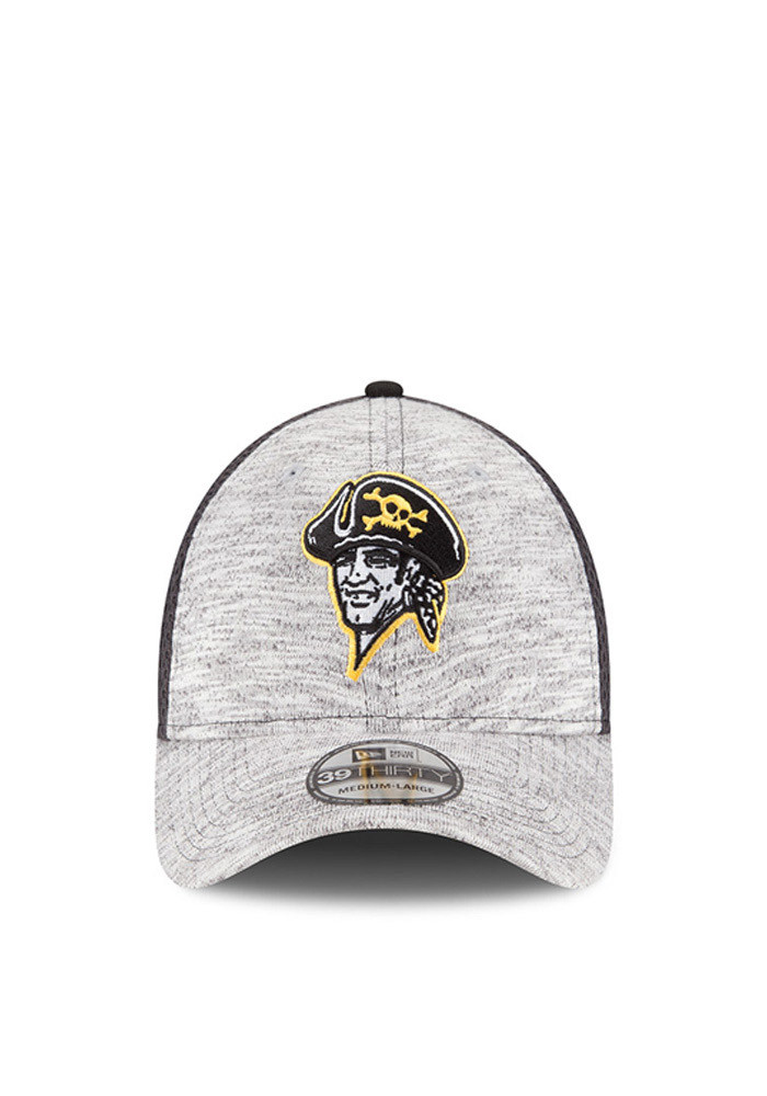 New Era Pittsburgh Pirates Mens Grey 2016 Clubhouse Flex Hat - Image 3