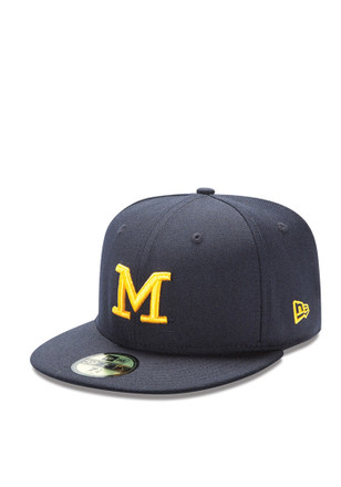 Michigan Wolverines New Era Mens Navy Blue Basic 59FIFTY Fitted Hat