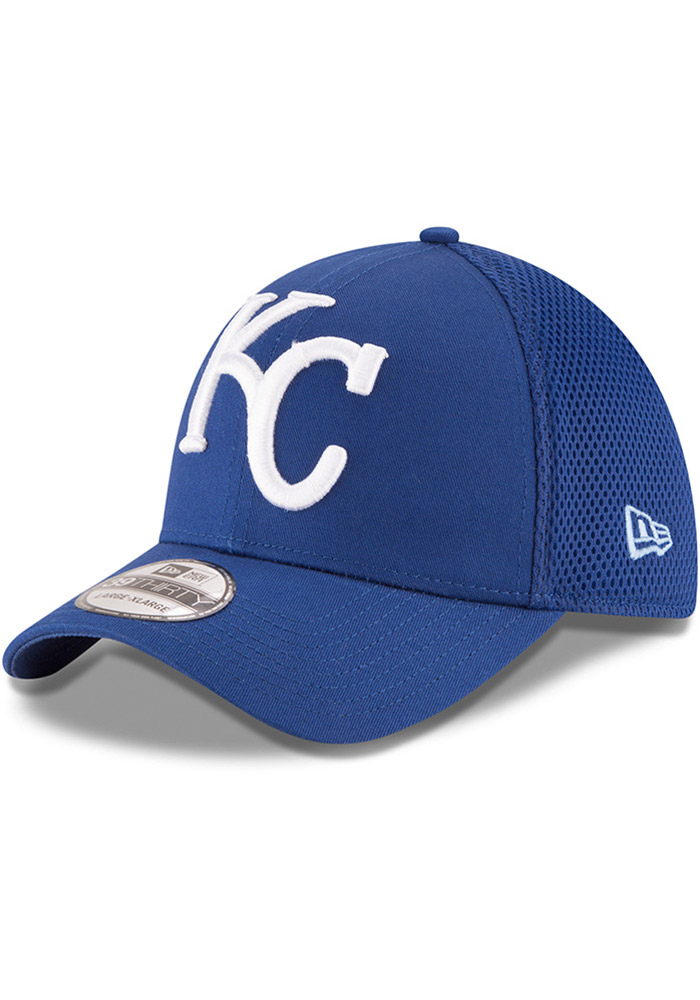 New Era Kansas City Royals Mens Blue Mega Team Neo 39THIRTY Flex Hat - Image 1