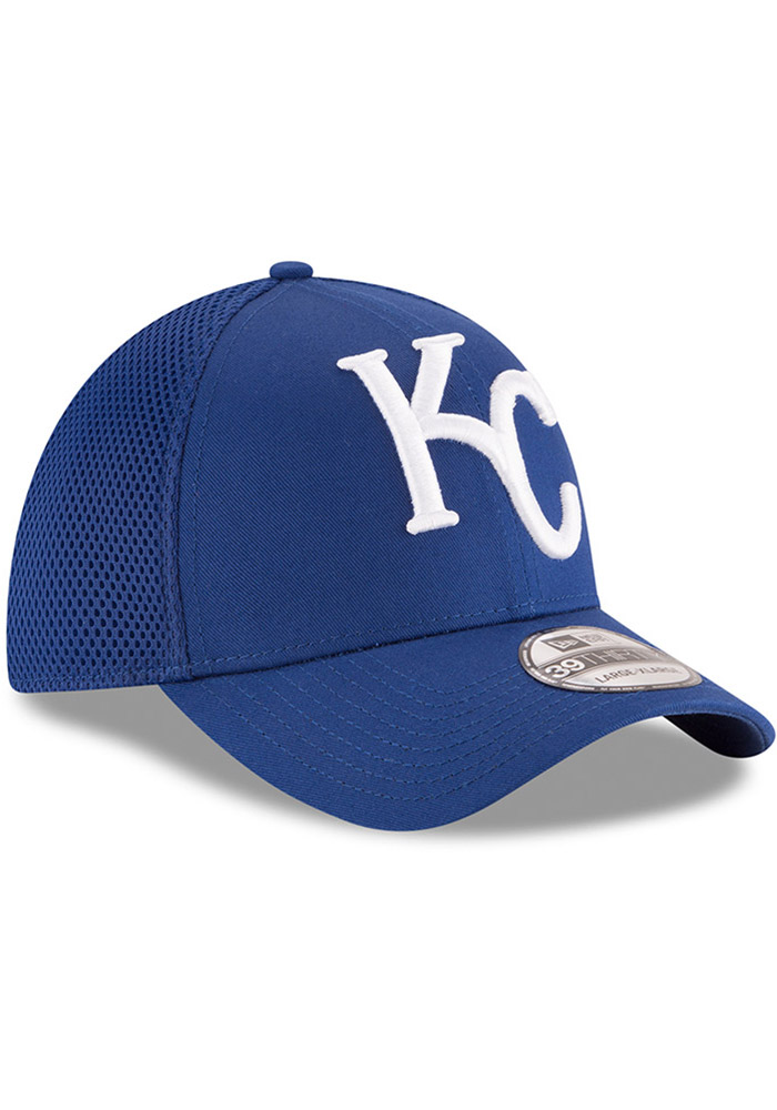 New Era Kansas City Royals Mens Blue Mega Team Neo 39THIRTY Flex Hat - Image 2