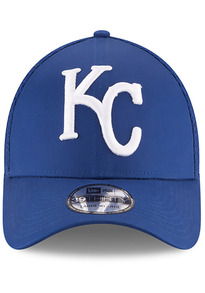 New Era Kansas City Royals Mens Blue Mega Team Neo 39THIRTY Flex Hat - Image 3