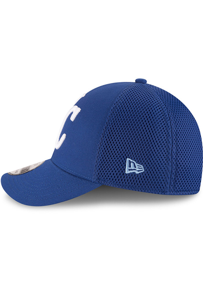 New Era Kansas City Royals Mens Blue Mega Team Neo 39THIRTY Flex Hat - Image 4