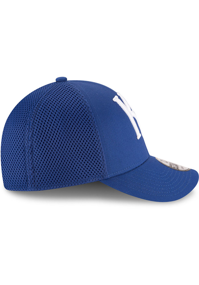 New Era Kansas City Royals Mens Blue Mega Team Neo 39THIRTY Flex Hat - Image 6