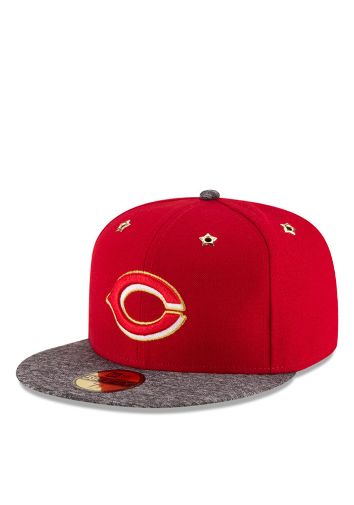 New Era Cincinnati Reds Mens Red 2016 ASG 59FIFTY Fitted Hat - Image 1