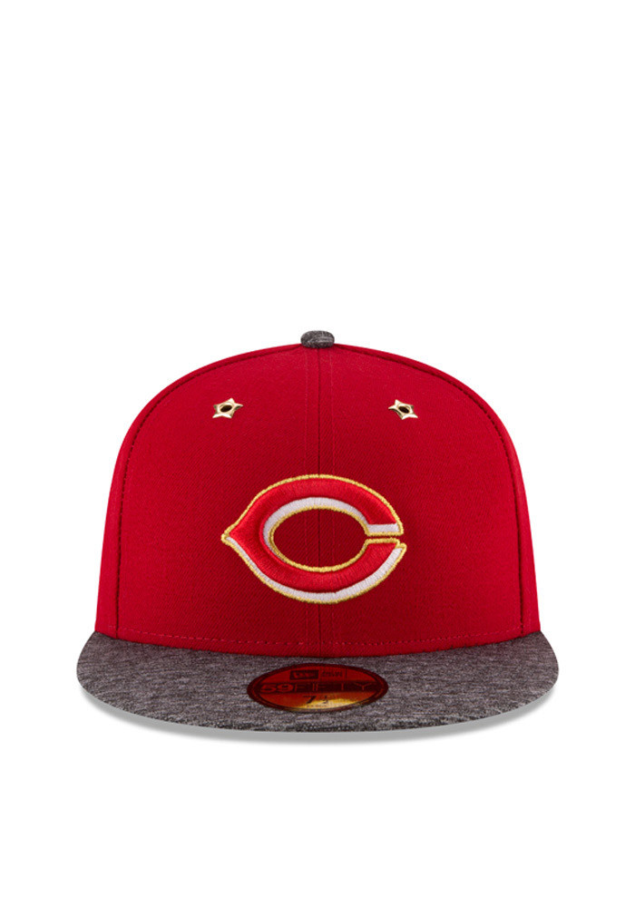 New Era Cincinnati Reds Mens Red 2016 ASG 59FIFTY Fitted Hat - Image 2