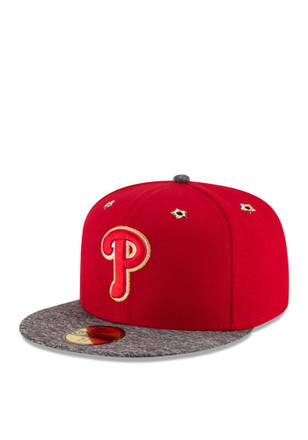 Philadelphia Phillies New Era Mens Red 2016 ASG 59FIFTY Fitted Hat