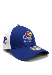 New Era Kansas Jayhawks Mens Blue Cobranded Flex Hat