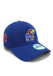 New Era Kansas Jayhawks Mens Blue Co Branded 9FORTY Adjustable Hat