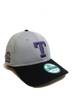 New Era Texas Rangers Mens Grey Co Branded 9FORTY Adjustable Hat