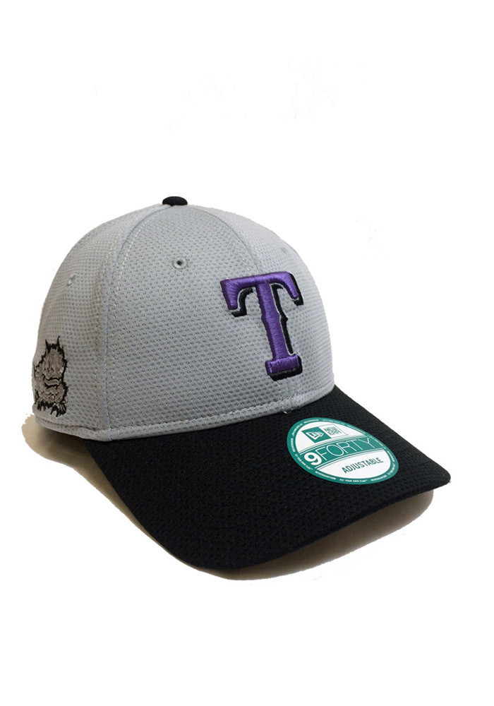 New Era Texas Rangers Mens Grey Co Branded 9FORTY Adjustable Hat - Image 1