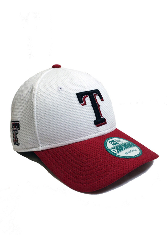 New Era Texas Rangers Mens White Co Branded 9FORTY Adjustable Hat - Image 1