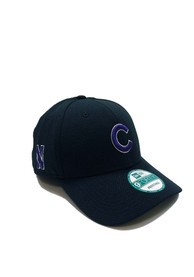 New Era Chicago Cubs Co Branded 9FORTY Adjustable Hat - Black