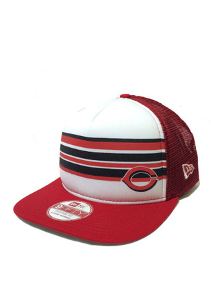 New Era Cincinnati Reds Mens Red Rally Stripe 9FIFTY Snapback Hat