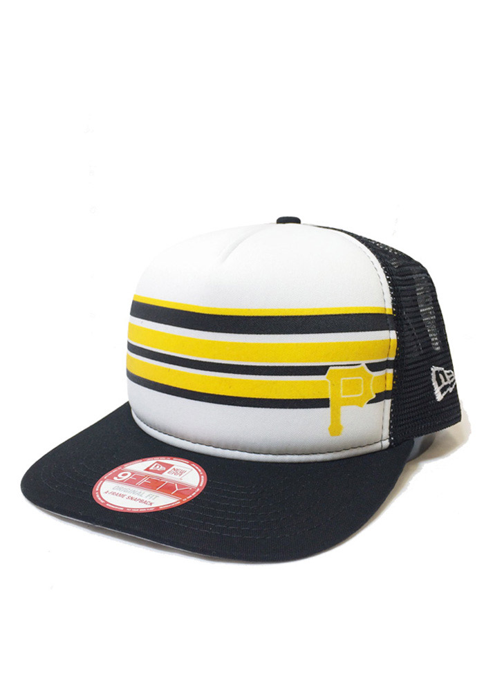 New Era Pittsburgh Pirates Black Rally Stripe 9FIFTY Mens Snapback Hat - Image 1