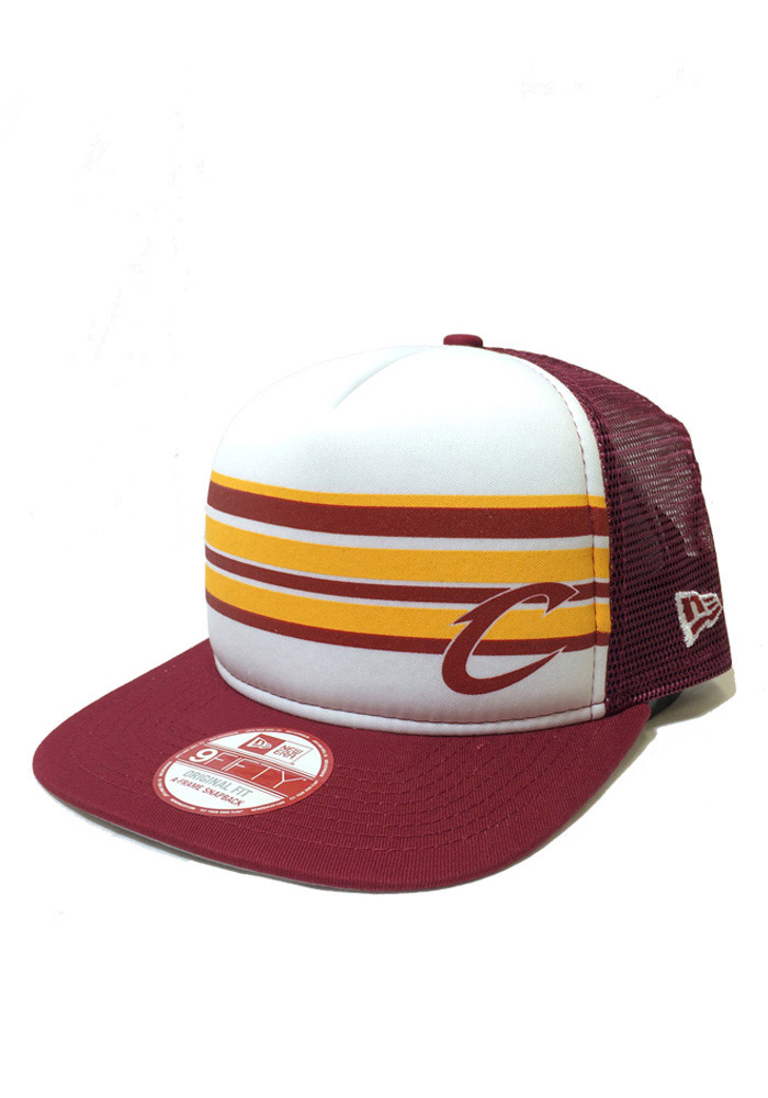 New Era Cleveland Cavaliers Maroon Rally Stripe 9FIFTY Mens Snapback Hat - Image 1