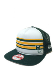 New Era Baylor Bears Green Rally Stripe 9FIFTY Snapback Hat