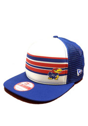 New Era KU Jayhawks Blue Rally Stripe 9FIFTY Snapback Hat