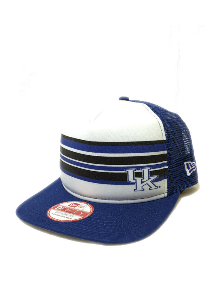 New Era Kentucky Wildcats Blue Rally Stripe 9FIFTY Mens Snapback Hat - Image 1
