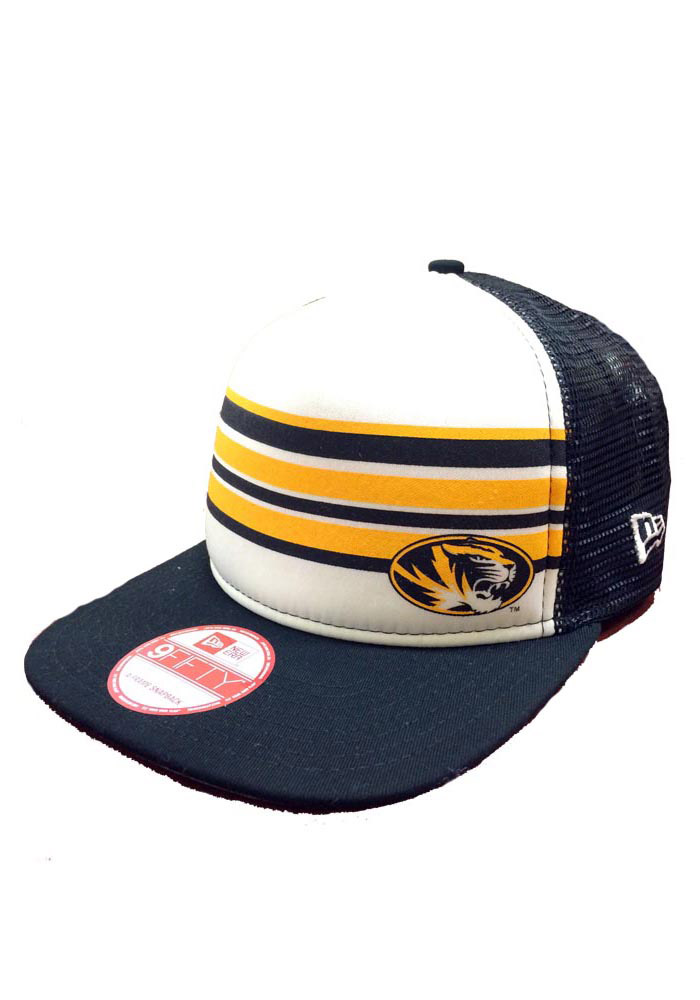 New Era Missouri Tigers Black Rally Stripe 9FIFTY Mens Snapback Hat - Image 1