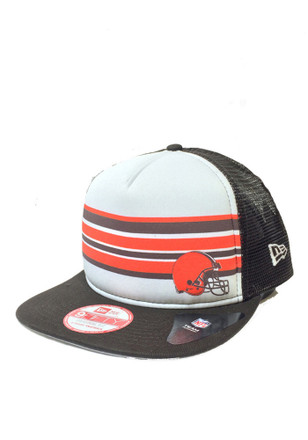New Era Cleveland Browns Mens Brown Rally Stripe 9FIFTY Snapback Hat
