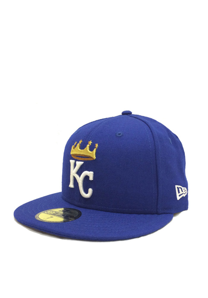 New Era Kansas City Royals Mens Blue 59FIFTY Fitted Hat - Image 1
