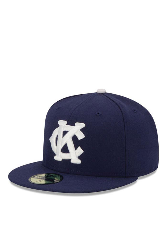 New Era Kansas City Monarchs Mens Navy Blue 2016 59FIFTY Fitted Hat - Image 1