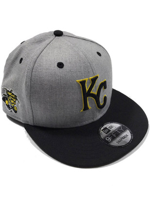 New Era KC Royals Grey Co Branded 9FIFTY Snapback Hat