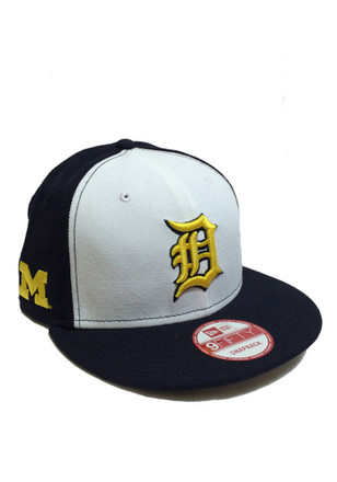 New Era Detroit Tigers Mens Navy Blue Co Branded 9FIFTY Snapback Hat