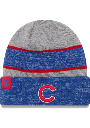 New Era Chicago Cubs Mens Grey 2017 Sport Knit Hat