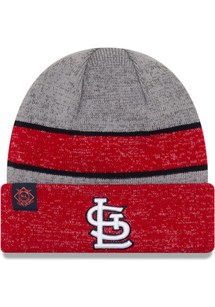 New Era St Louis Cardinals Mens Grey 2017 Sport Knit Hat