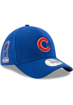 New Era Chicago Cubs Mens Blue Gold Collection 39THIRTY Flex Hat