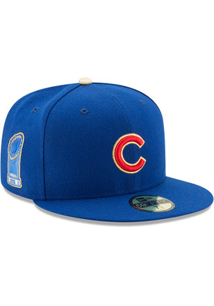 Chicago Cubs New Era Mens Blue Gold Collection AC 59FIFTY Fitted Hat