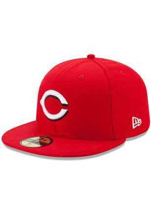 Cincinnati Reds New Era Mens Red AC Home 59FIFTY Fitted Hat