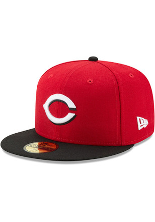 Cincinnati Reds New Era Mens Red AC Road 59FIFTY Fitted Hat