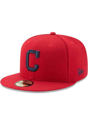 Cleveland Indians New Era Mens Navy Blue AC Alt 59FIFTY Fitted Hat