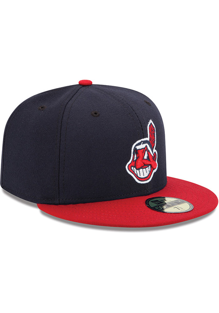 New Era Cleveland Indians Mens Red AC Home 59FIFTY Fitted Hat - Image 2