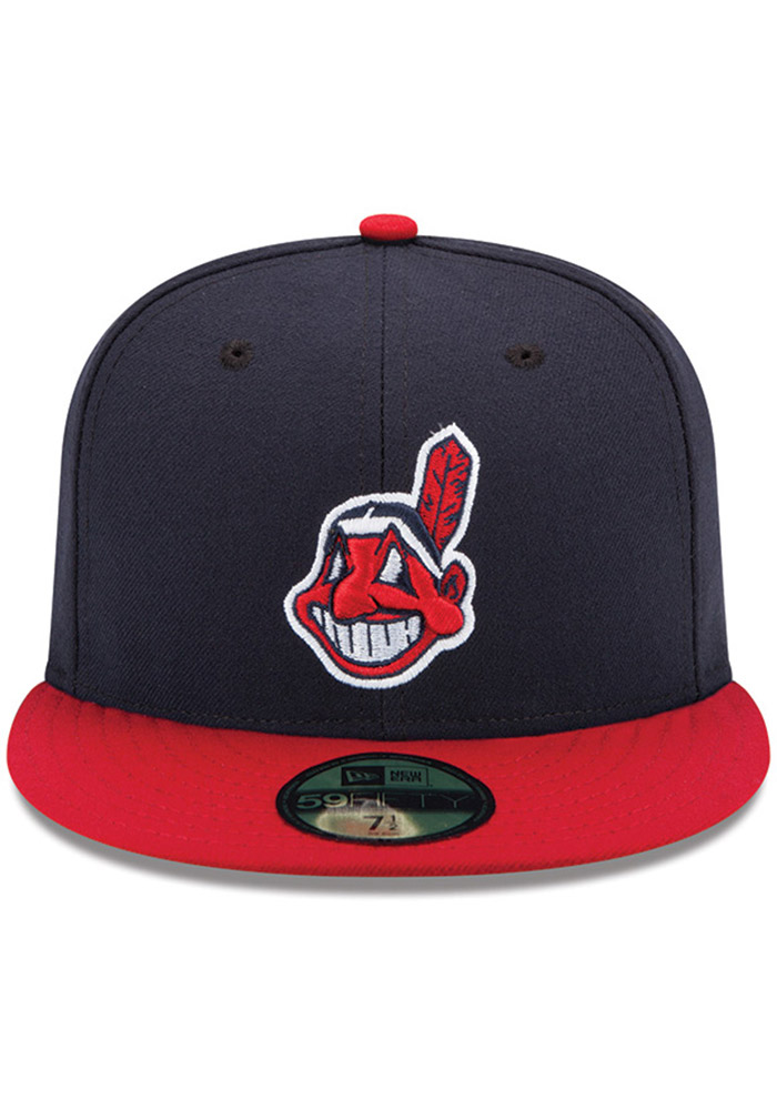 New Era Cleveland Indians Mens Red AC Home 59FIFTY Fitted Hat - Image 3