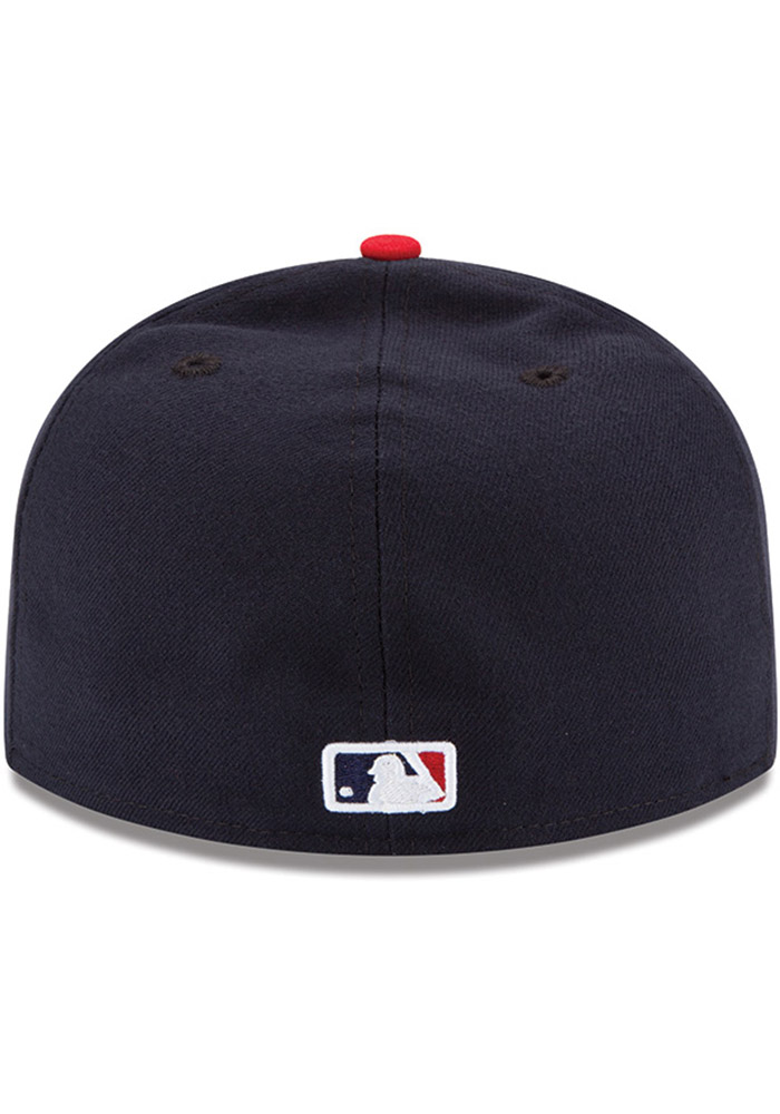 New Era 5950 Cleveland Indians HOME 2018 Fitted Hat NV//RD MLB Cap