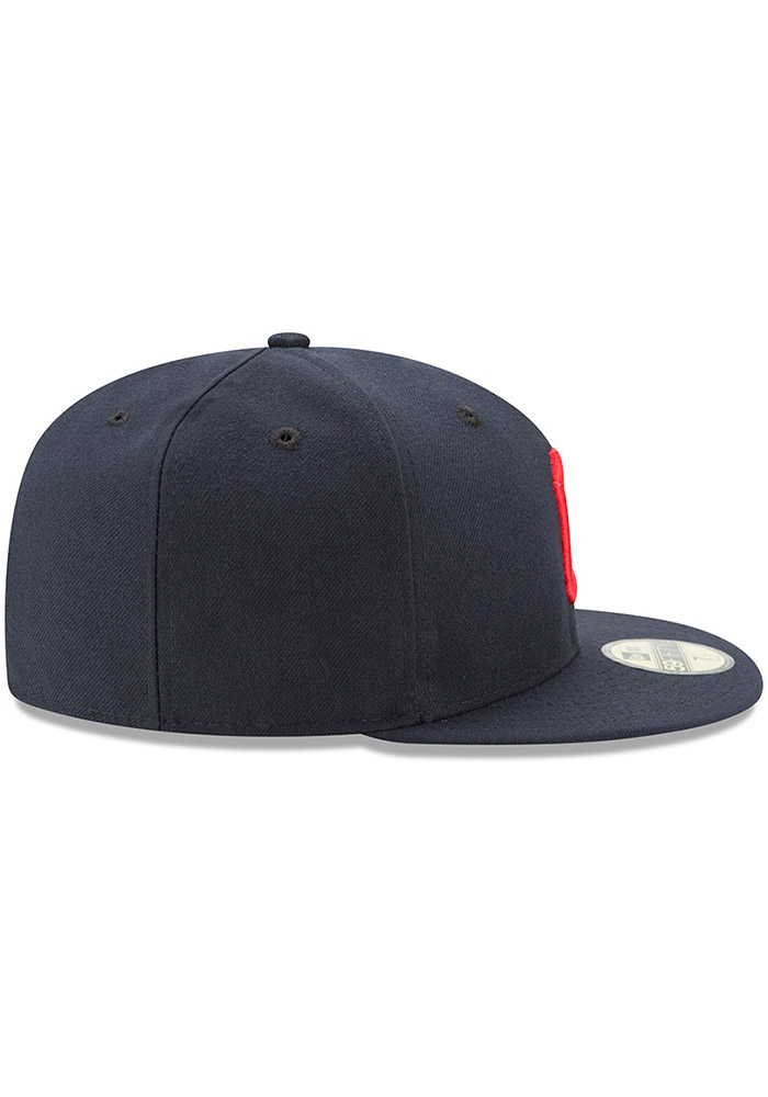 New Era Cleveland Indians Mens Red AC Road 59FIFTY Fitted Hat - 5905122 207ee56c8
