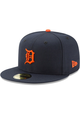 Detroit Tigers New Era Mens Orange AC ROAD 59FIFTY Fitted Hat