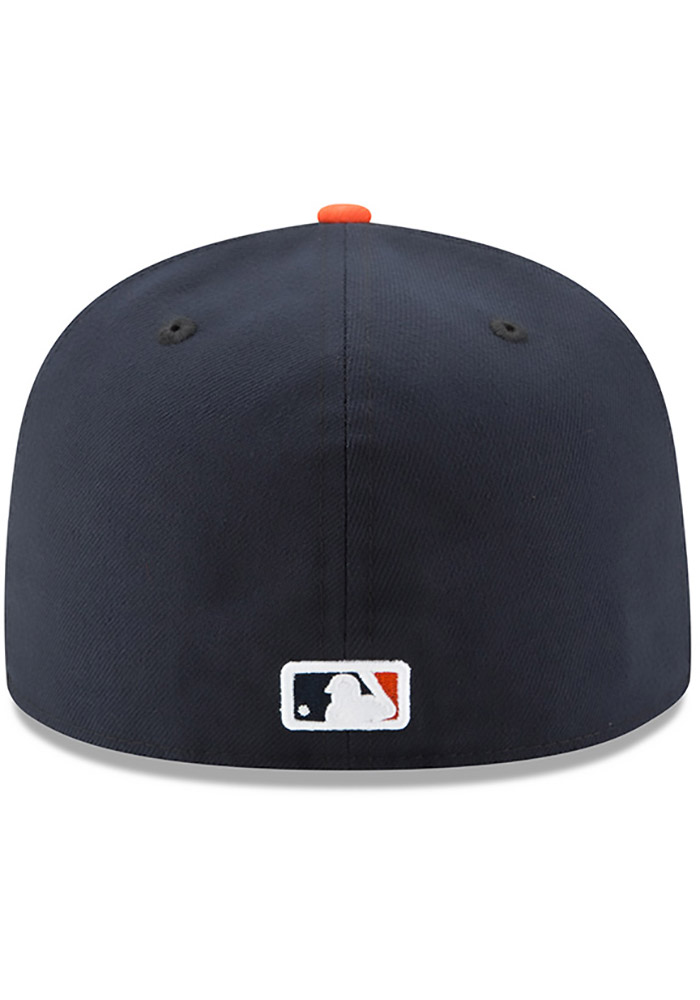 da1cedaaa689e New Era Detroit Tigers Mens Orange AC ROAD 59FIFTY Fitted Hat - 5905124