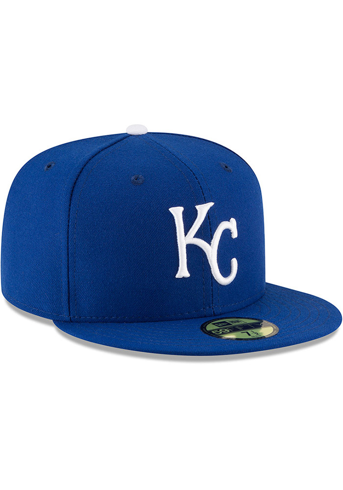 New Era Kansas City Royals Mens Blue AC Game 59FIFTY Fitted Hat - Image 2