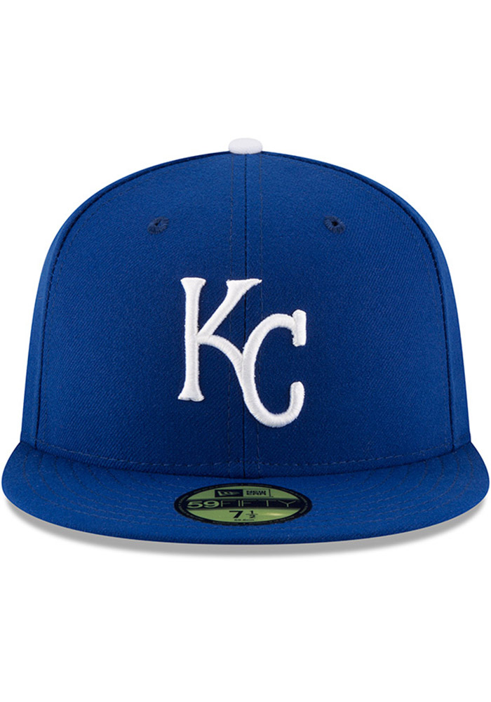 New Era Kansas City Royals Mens Blue AC Game 59FIFTY Fitted Hat - Image 3