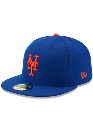 NY Mets New Era Mens Blue AC Game 59FIFTY Fitted Hat