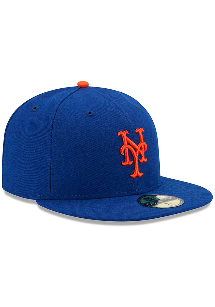 New Era New York Mets Mens Blue AC Game 59FIFTY Fitted Hat - Image 2