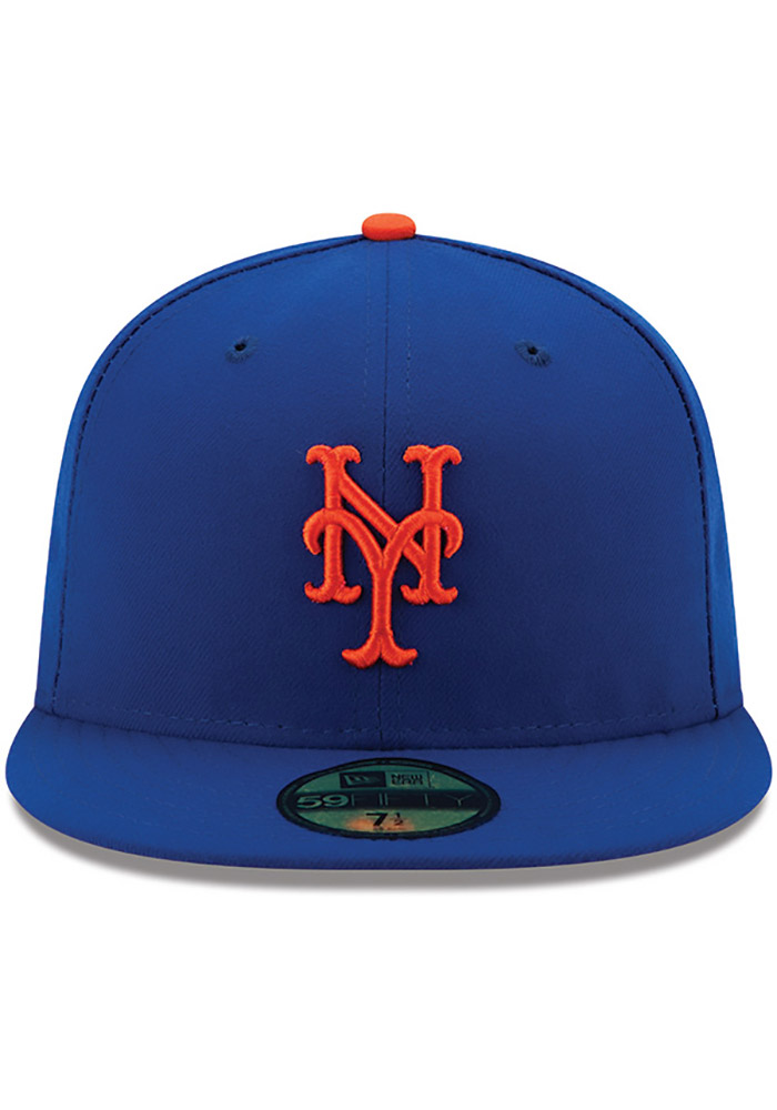 New Era New York Mets Mens Blue AC Game 59FIFTY Fitted Hat - Image 3