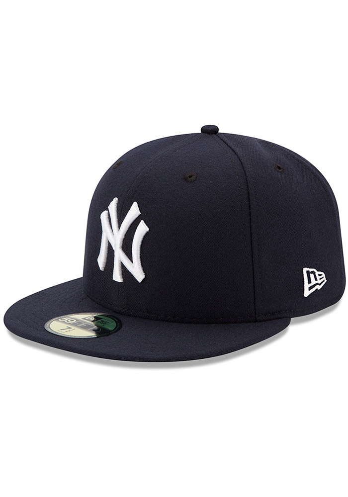 New Era New York Yankees Mens Blue AC Game 59FIFTY Fitted Hat - Image 1